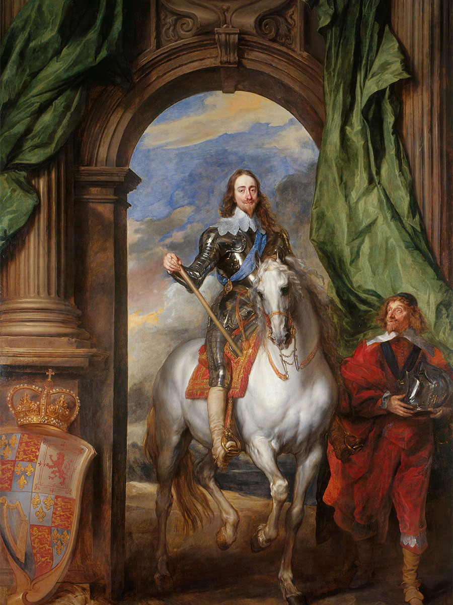 Charles I with M. de St Antoine - 1633