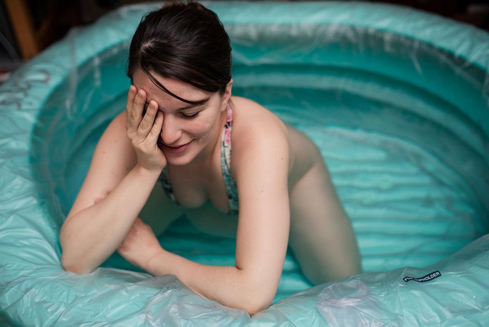 laboring oasis birth pool home birth