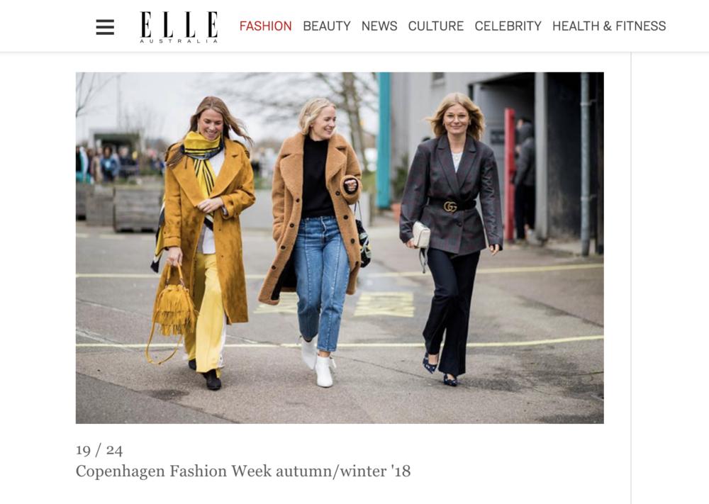 ELLE Australia - Copenhagen Fashion Week streetstyle AW18Laura Lawetz in AW17