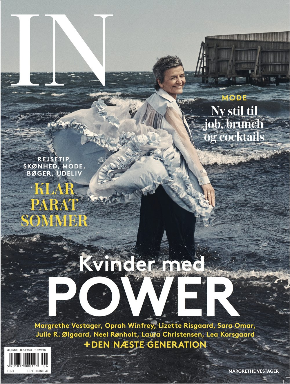 IN magazine DK - June/July 2018, European Commissioner for Competition on the cover in Brøgger