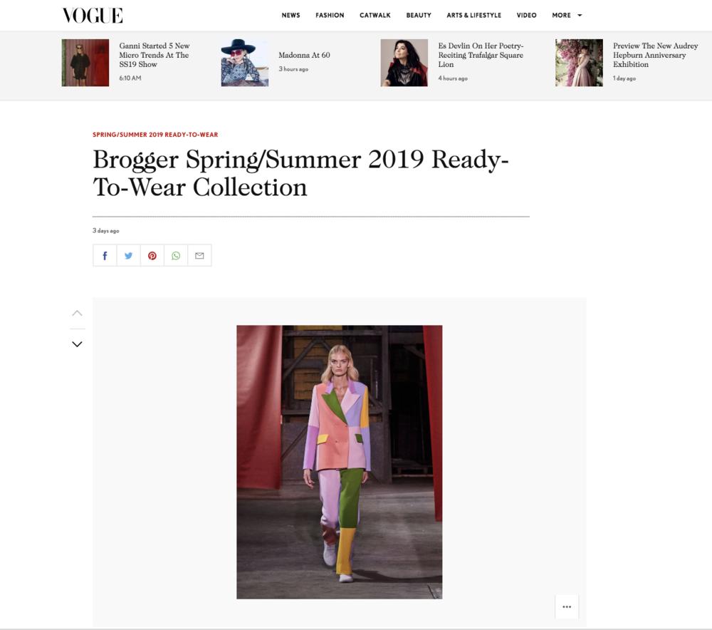 VOGUE UK - Copenhagen Fashion Week SS19August 10th 2018