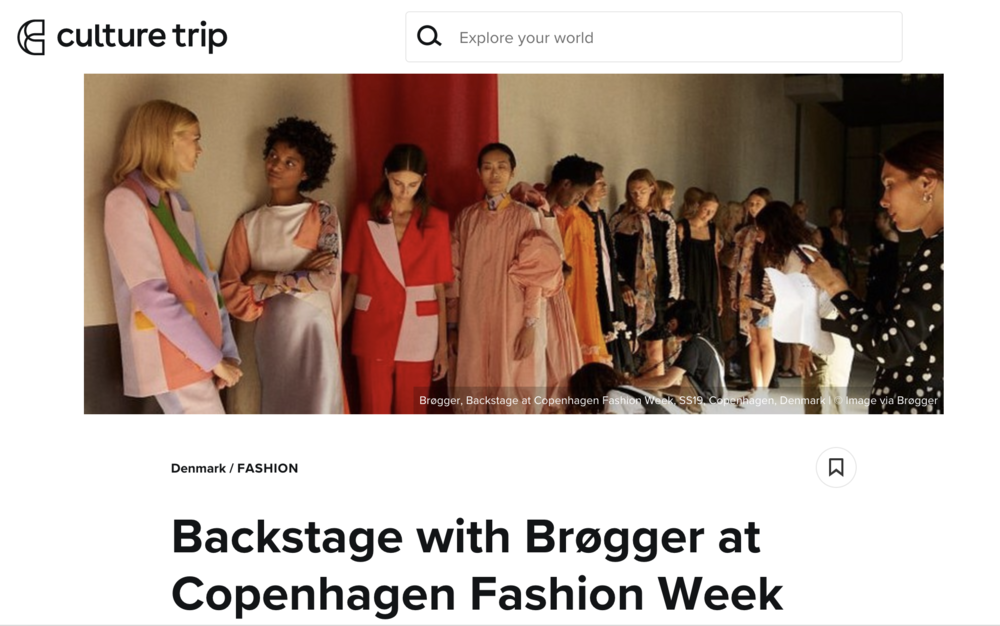 The Culture Trip - Backstage at CPHFW SS19August 13th 2018 by Sarah Leigh Bannerman