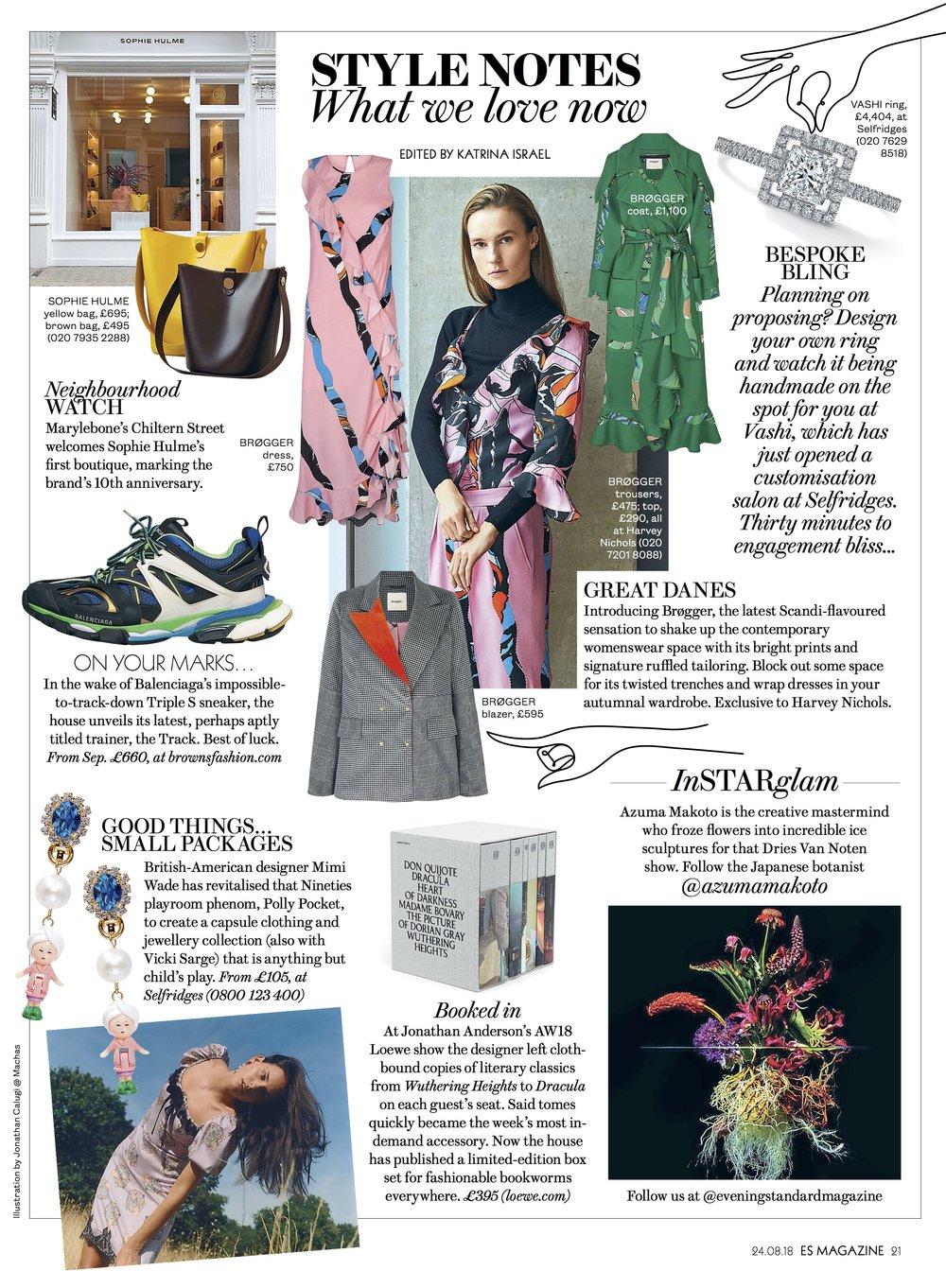 Evening Standard magazine - 23rd August by Katrina Israel