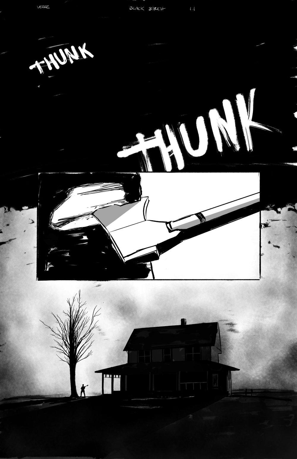 Black Birch // Issue 1 Page 1 - Inks