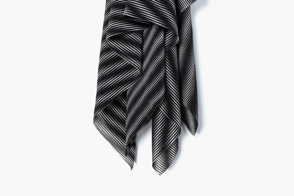 "Raze (detail), 2016  Screen print on silk crepe  42"" x 42"""