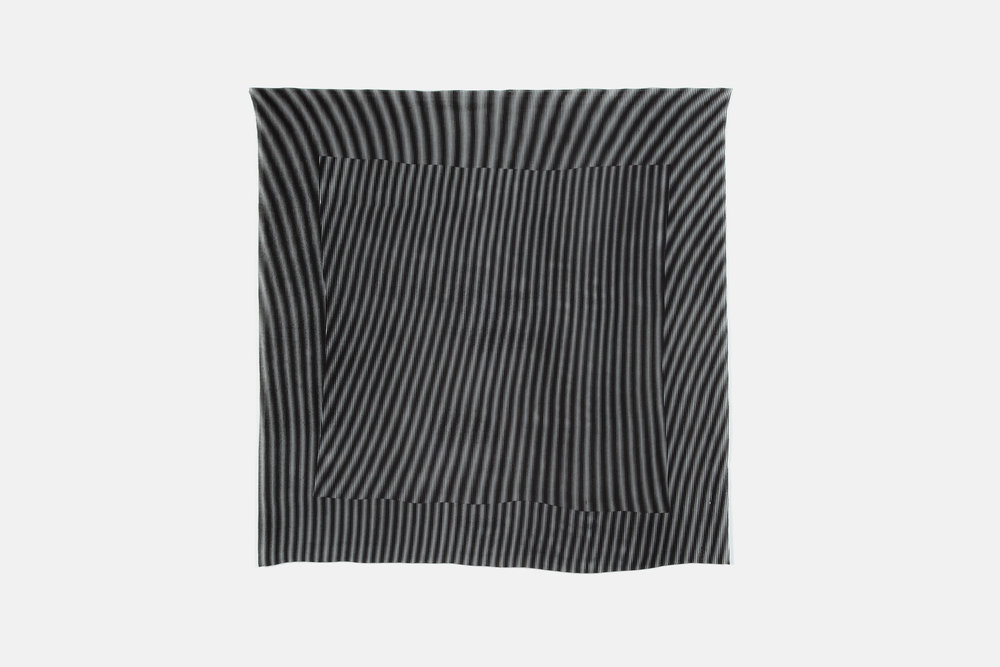 "Raze, 2016  Screen print on silk crepe  42"" x 42"""