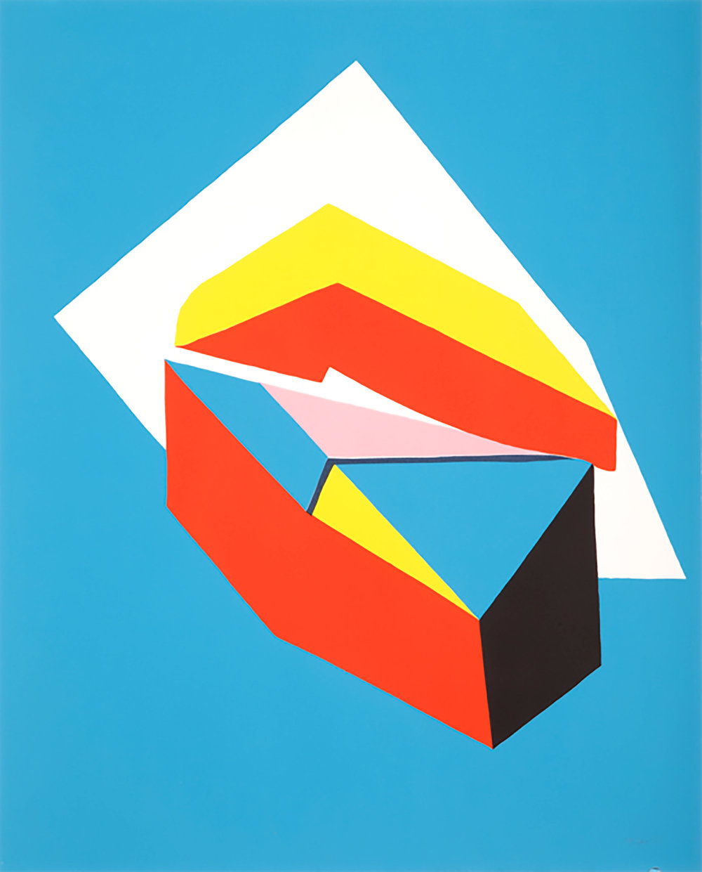 Clare Rojas   Untitled , 2013  From The Lab's portfolio box  Screen Print  22.5 x 19.5 x 3.5 in