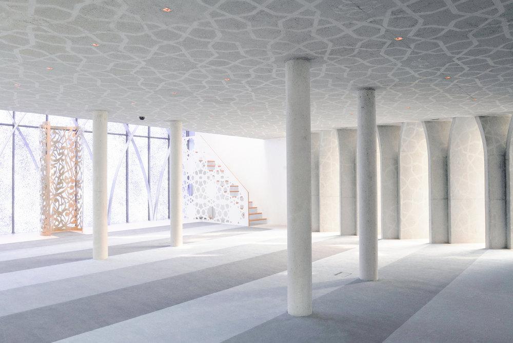 Inside the islamic Forum in Penzberg, Bavaria. photography Angelika Bardehle