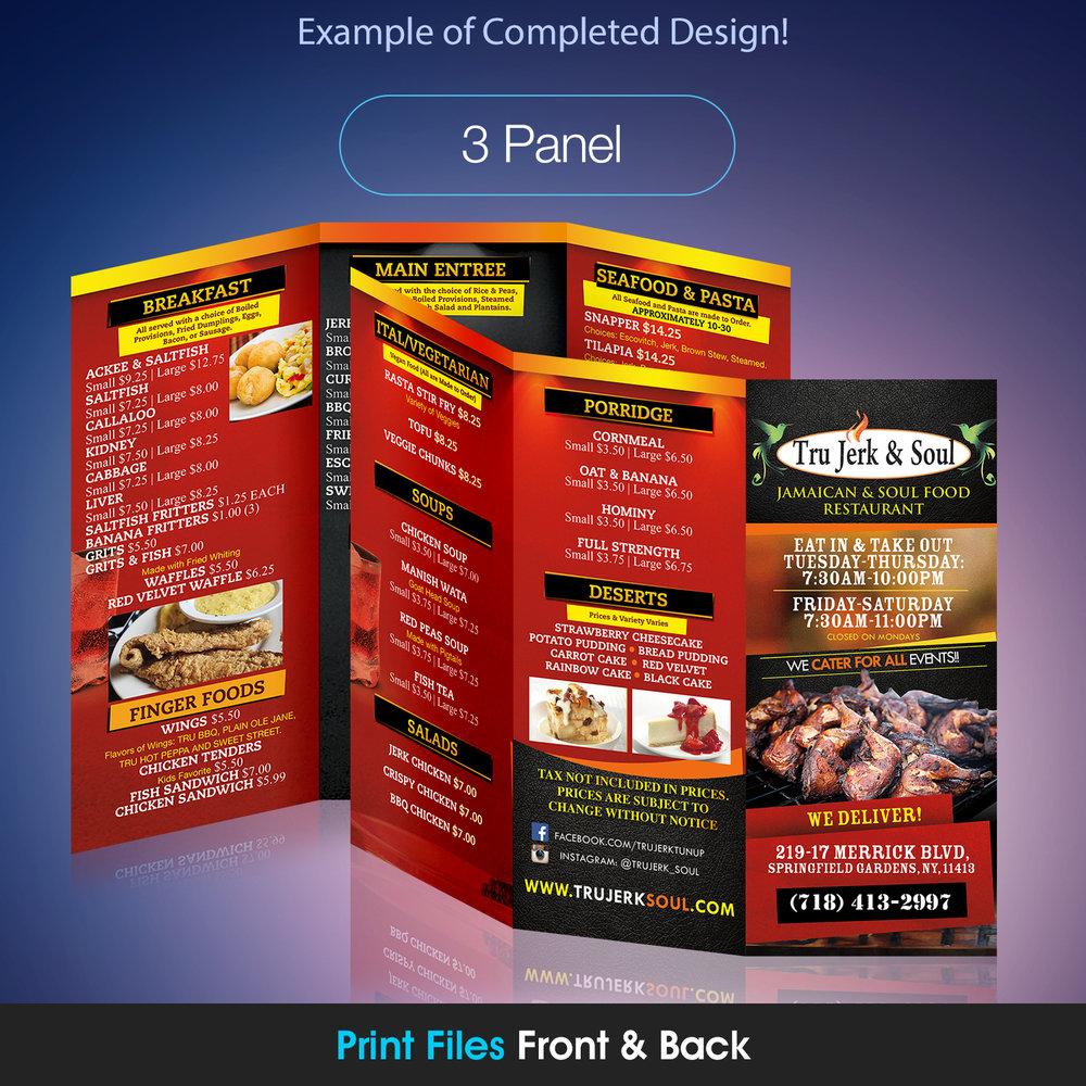 3 panel brochure design kreateyou