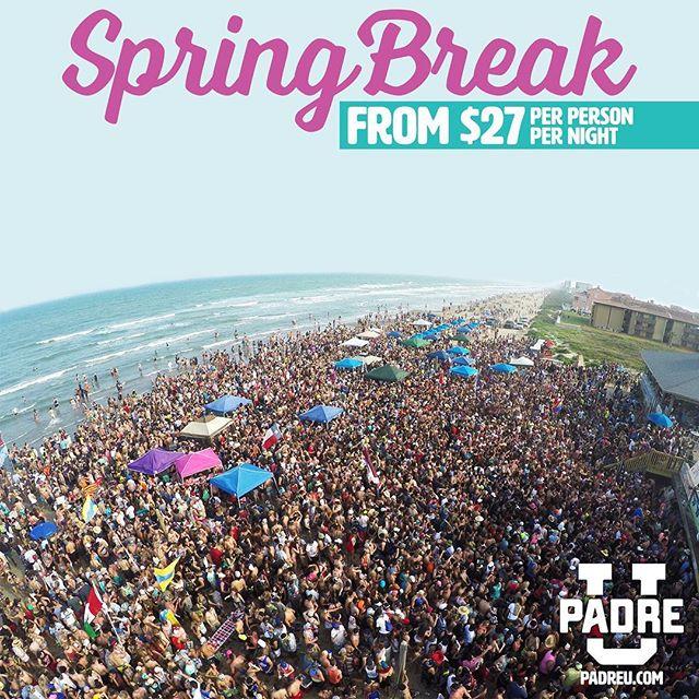 S P R I N G • B R E A K 🏝✌🏼 Who's ready!? It's time to start booking! padreu.com • • • #springbreaksouthpadre #springbreak #springbreak2018 #padreu #padreuniversity #padreu2018 #southpadre #southpadreisland #southtexasbeach #texasbeach #beachlife #beachparty