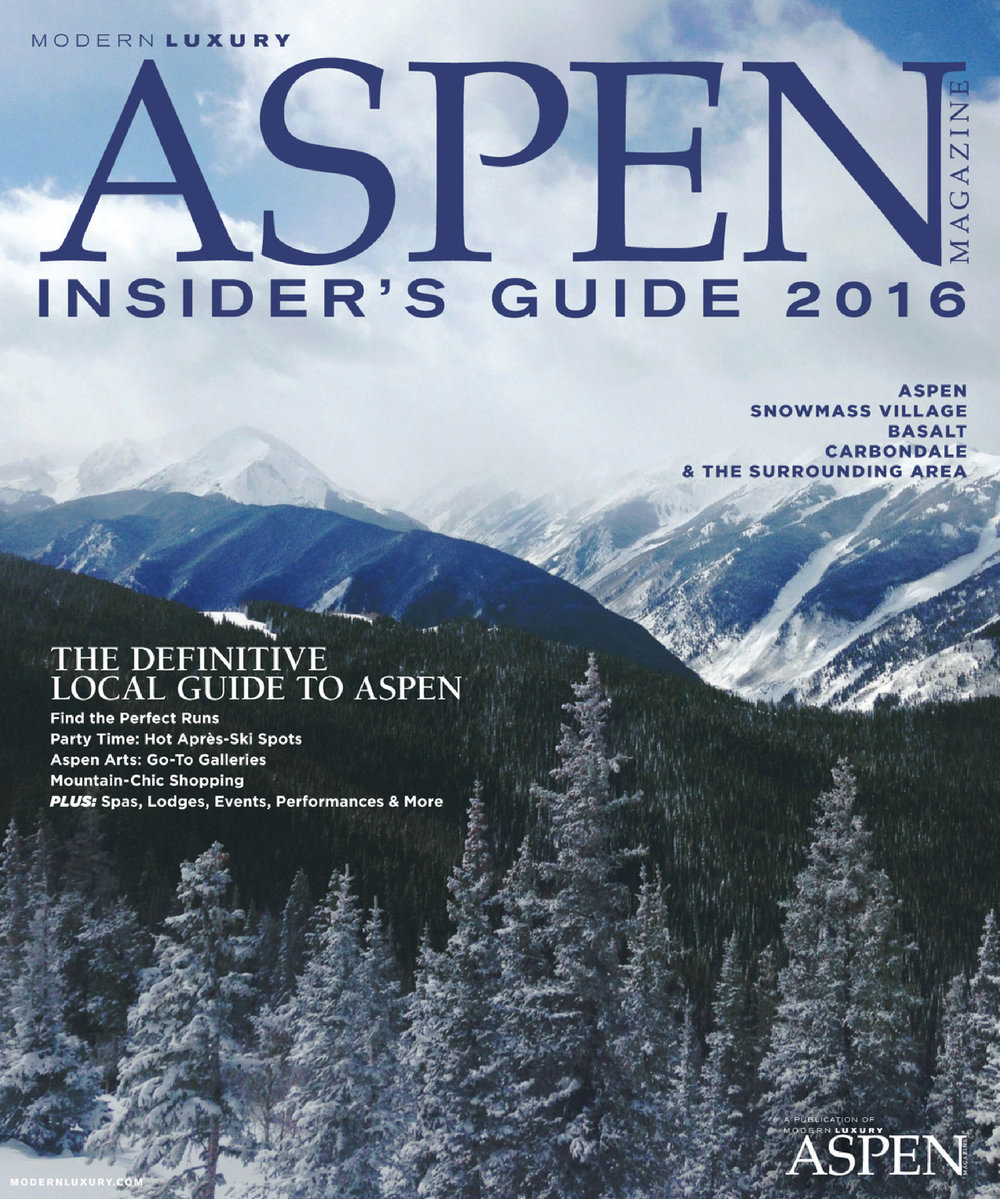 Editor and marketing work: Aspen Magazine's Insider's Guide 2015/16