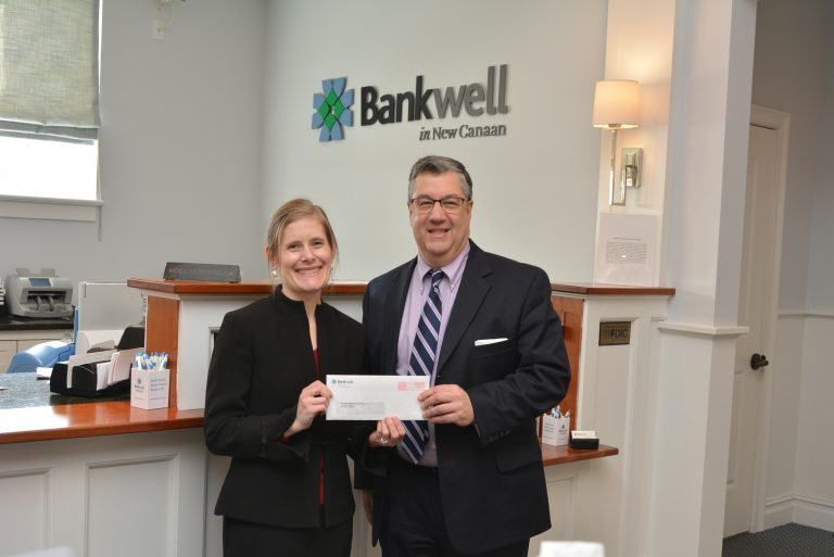 Carver Director of Philanthropy Nikki Lafaye with Bankwell SVP and Director of Business Development Rob Mallozzi