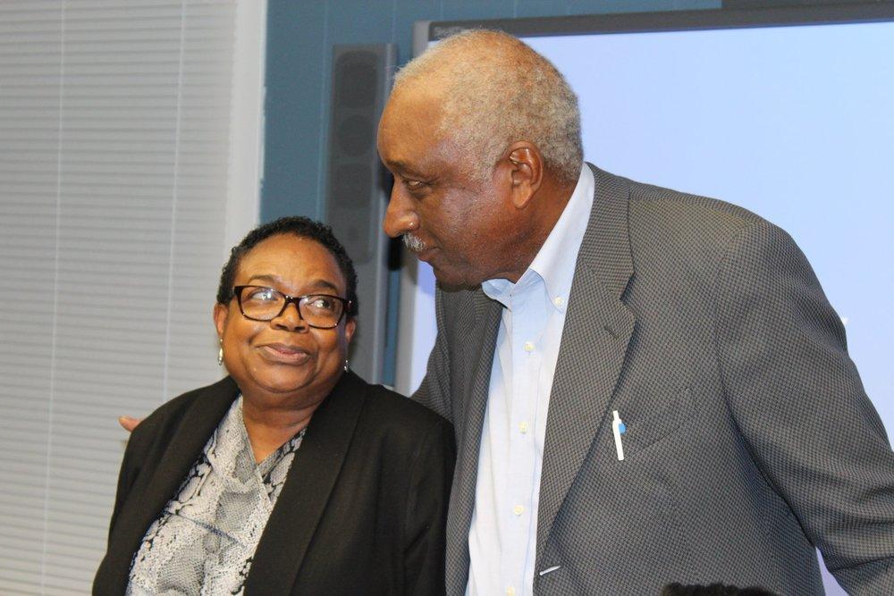 Carver Board President, Diana Napier, and Carver Board President Emeritus, Charles Burns