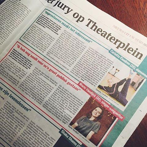 Ook in gazet van Antwerpen gisteren @mariievandijck @lotje.caudron @shaka_shams #kordaat16 Allemaal komen donderdag! Vergeet geen tix te kopen op tijd #antwerpen #festival #soufianeeddyani #djfrank #thisisantwerp