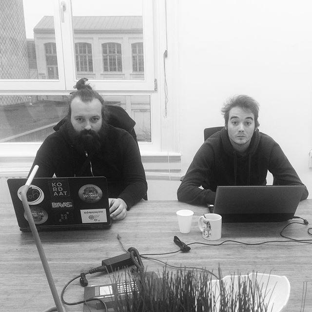 Yannick & Yannick zijn druk bezig met de productie van het festival #kordaat16