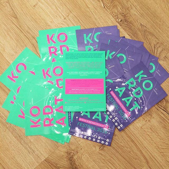 Fluo flyers zijn toegekomen #10000stuks #kordaat16