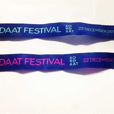Polsbandjes zijn toegekomen! Met dank aan labels-things.com #kordaat16 #festival #polsbandjes
