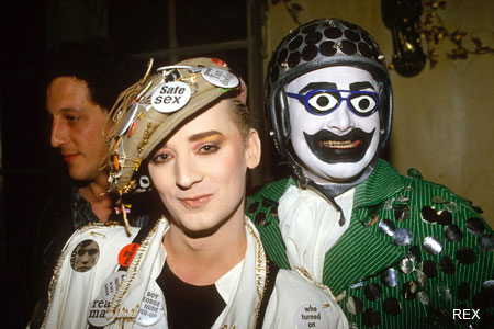 Leigh made clothing for Boy George.