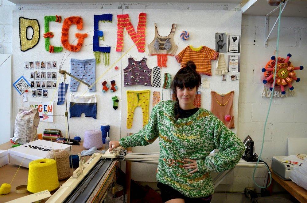 Lindsay Degen, designer of NYC knitwear brand DEGEN