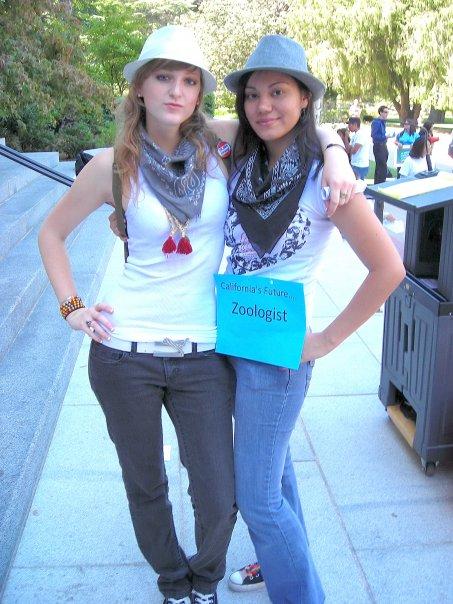 in her regular style at UC Davis