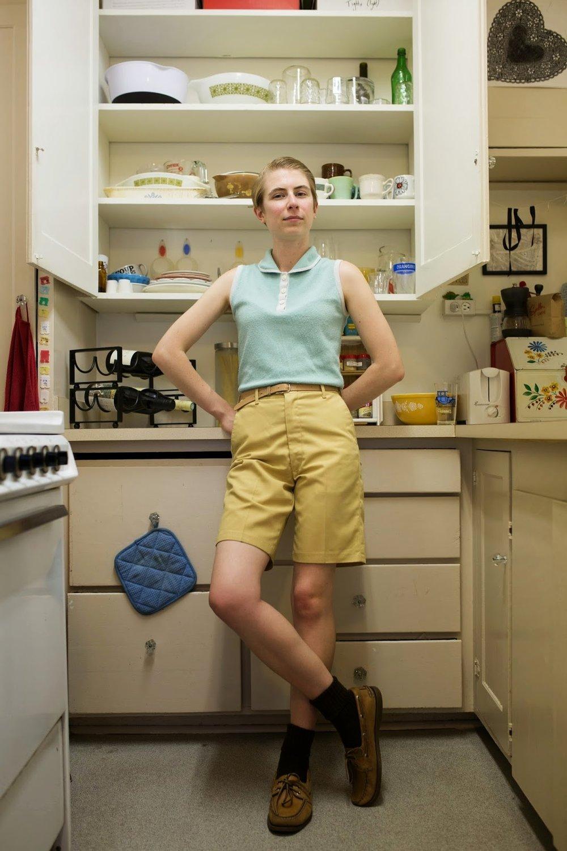 Delphine in her kitchen