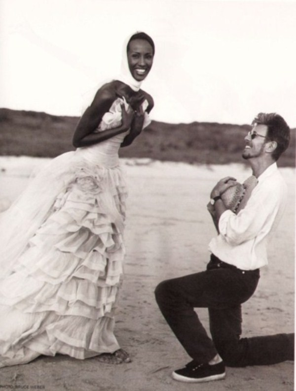Iman and David Bowie 1992