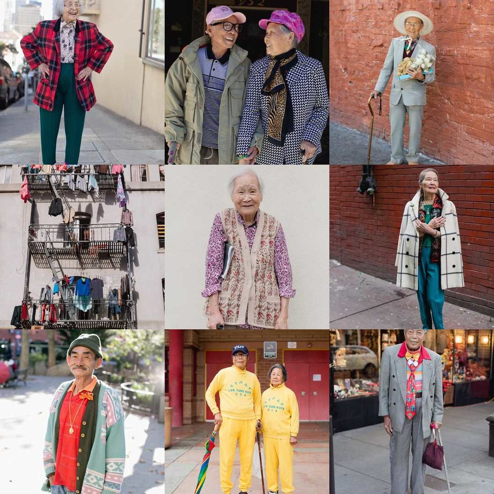Photos from the amazing blog  Chinatown Pretty . Chronicling the street styles of SF Chinatown's senior sartorialists