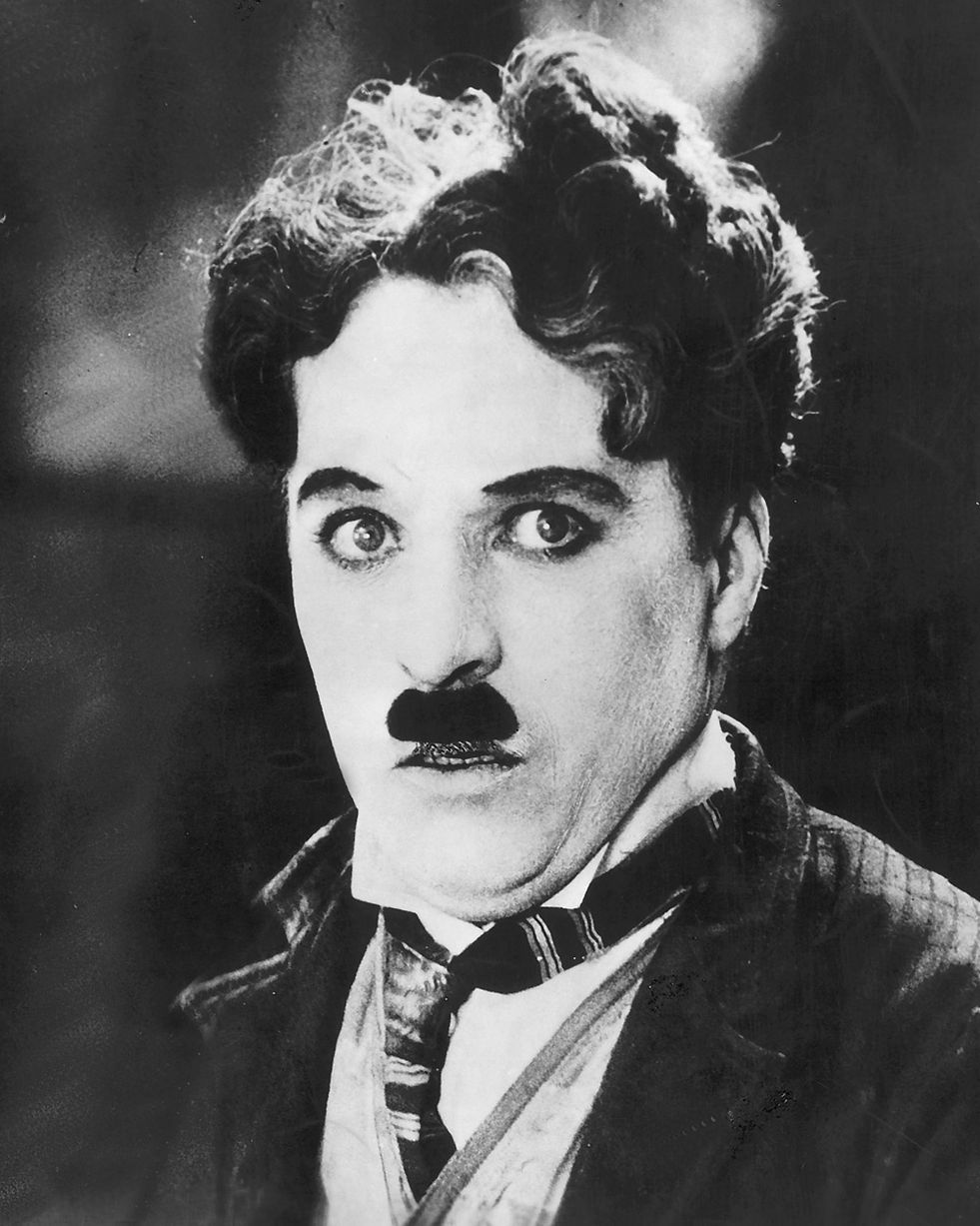 Charlie Chaplin with his legendary 'toothbrush mustache'.