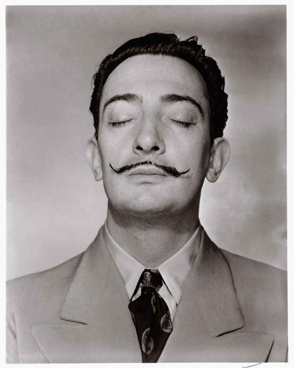 Salvador Dali with his trademark 'Dali' mustache.