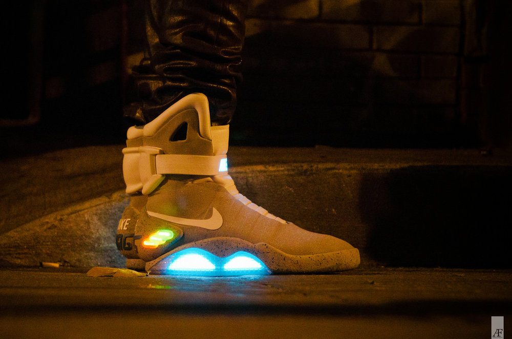 Working version of the Nike Mag (Back to the Future shoes)