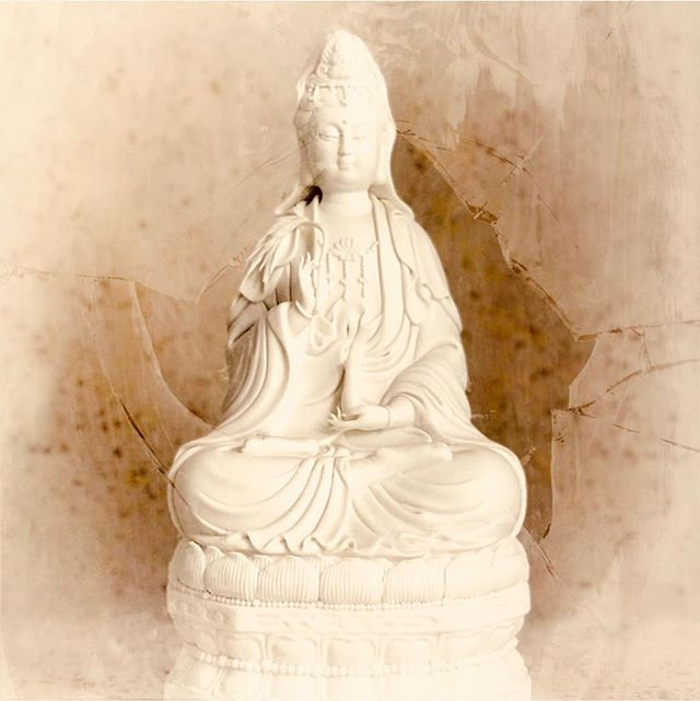 Kuan Yin [Guanyin, short for Guanshiyin], which loosely translates to 'perceiving the sounds of the world', is often known as the female Buddha of compassion and mercy. This spiritual icon is usually seen as a manifestation of the 'Divine Mother' intending boundless compassion and protection. 🔻 The spiritual practice of compassion is a way of touching and being touched by the world around us. Increasing our capacity to feel and care, compassion is often likened to opening the heart, and having sensitivity to suffering in the world [including our own]. Compassion reinforces charity and empathy reminding us to not turn away from pain, but to move toward it with expansive caring. 🔻 Our sense of compassion, on a personal level, may be sabotaged by feelings of spite or malice toward others. These feelings, and others arising from emotional pain, may be symptoms indicating that one should strive to have more self-compassion.
