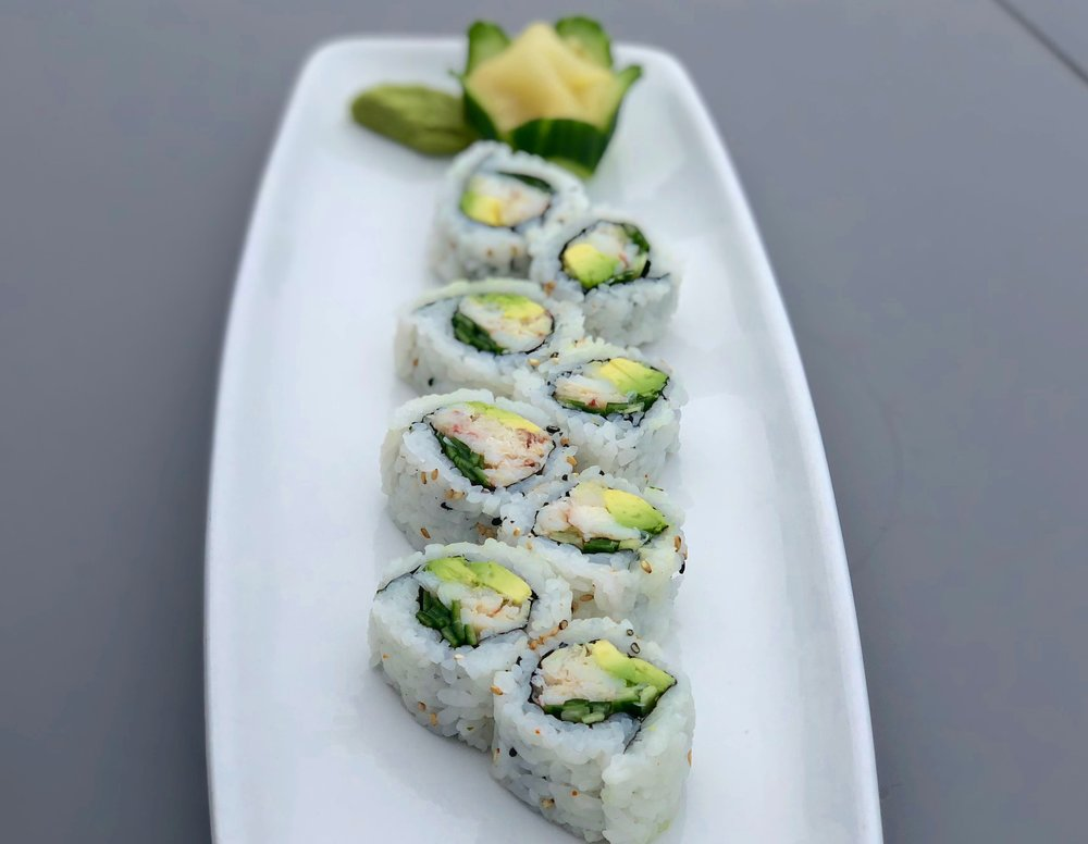 "Our ""California Roll"" uses real, steamed and chilled Jonah Crab meat!"