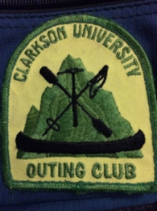 Clarkson University Outing Club Patch, circa 2004.
