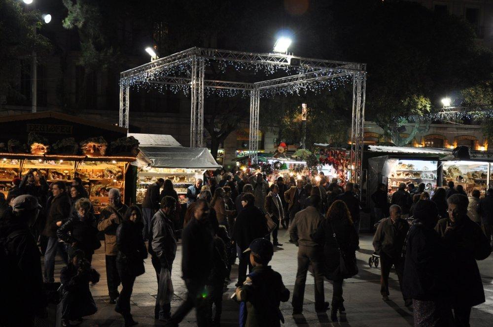 Fira de Santa Llúcia Christmas Market.