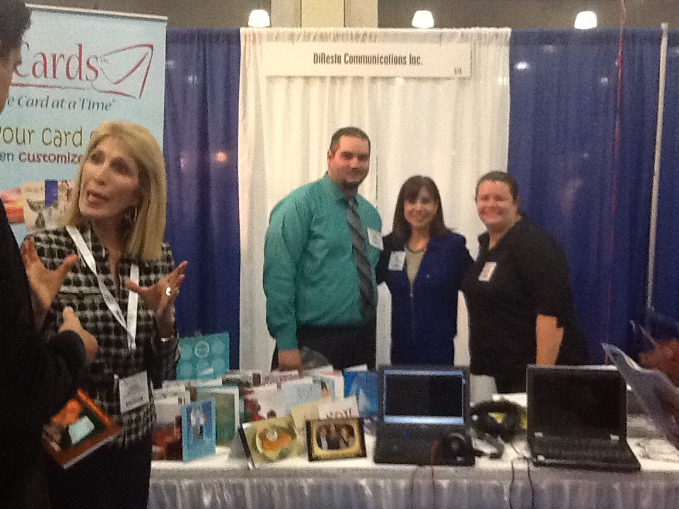 Andrea, Erick, Diane and Kelly at the booth