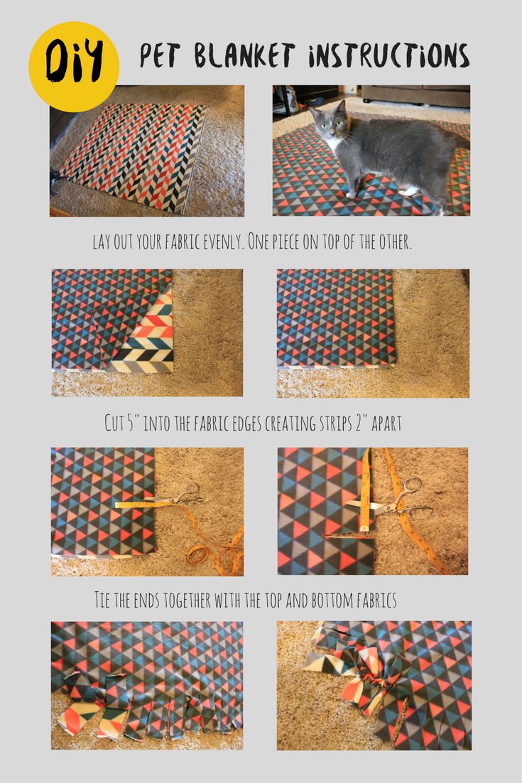 DIY Pet Blanket Instructions. Petculiar