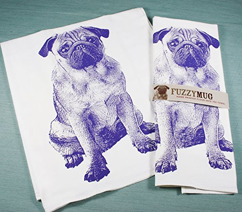 Pug Tea Towels. Petculiar. Kitchen Stuff