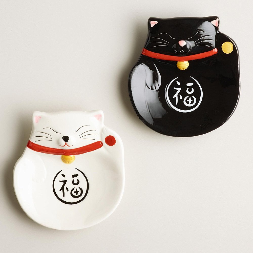 Happy Cat Tea Bag Rester. Petculiar. Pet Kitchen Items