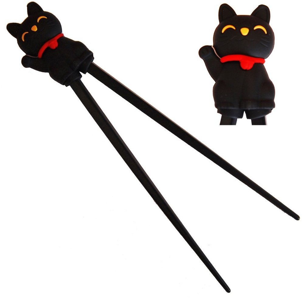 Chopsticks Training. Cat. Petculiar. Kitchen