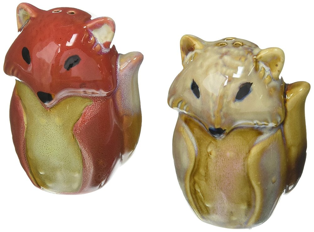 Fox Salt and Pepper Shakers. Petculiar. Kitchen