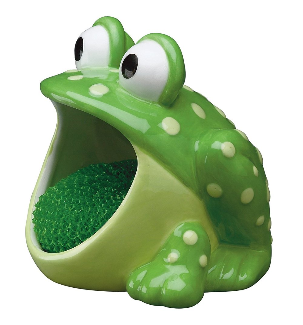 Frog Sponge Holder. Petculiar. Kitchen