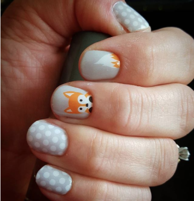 fox nail art. Pet blog. lifestyle and culture. petculiar