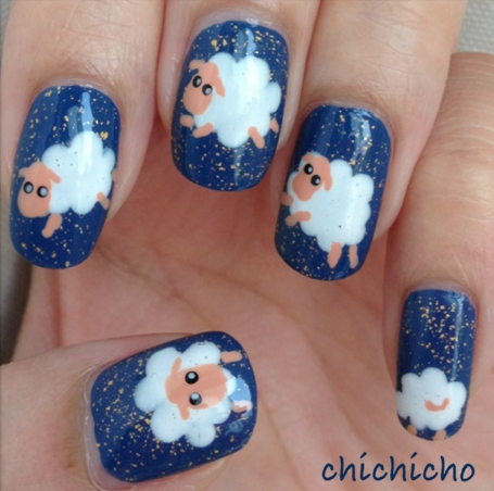sheep nail art
