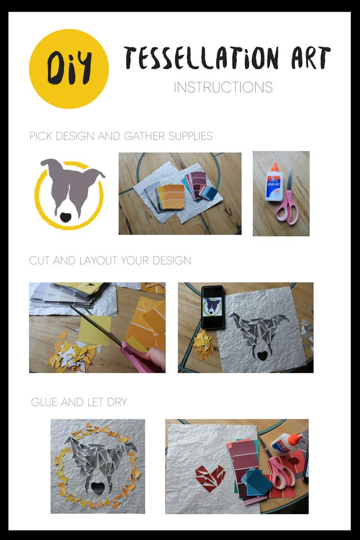 pet culture blog. Petculiar. tessellation art instructions. pet diy and crafts.