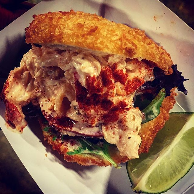 Ever seen one of these? Crunchy Bao w/ Butter-Mayo Lobster goodness... @cafe949 your Bao... is #onpoint