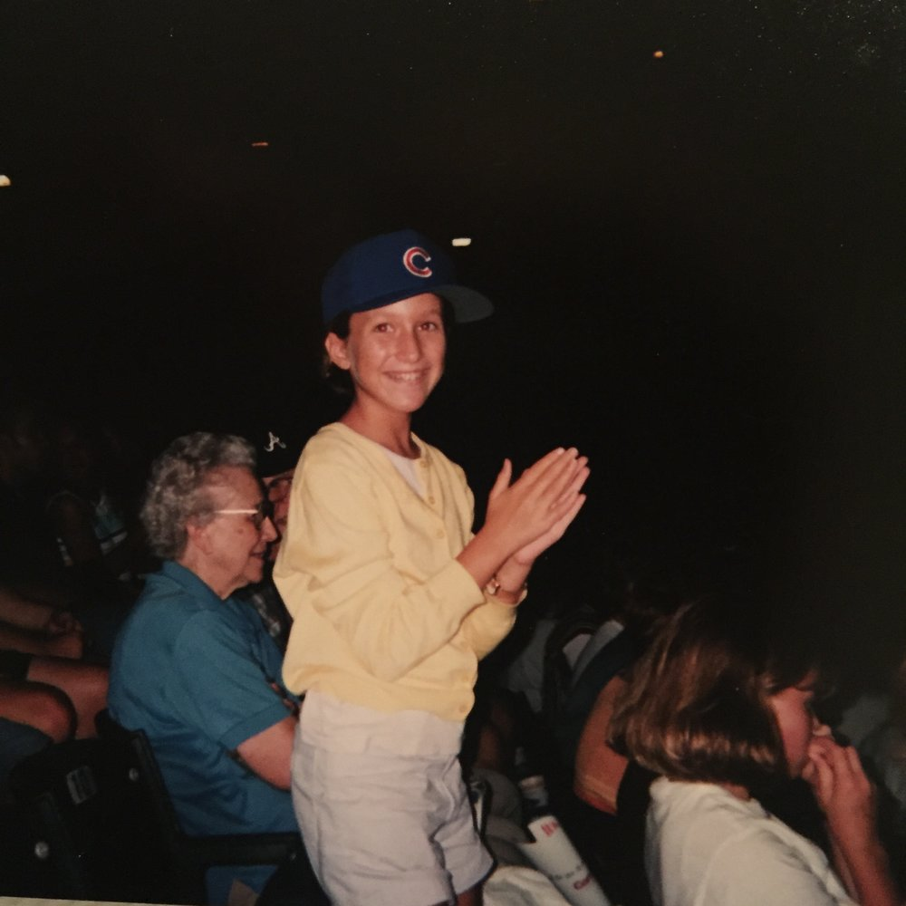 A lifelong fan: Nelson, age 10, at Wrigley Field