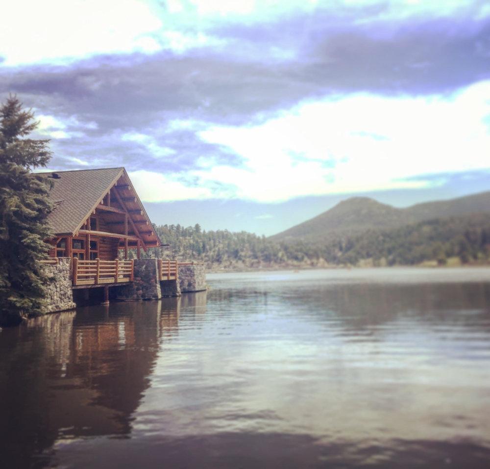 Evergreen Lake in Evergreen, Colo.