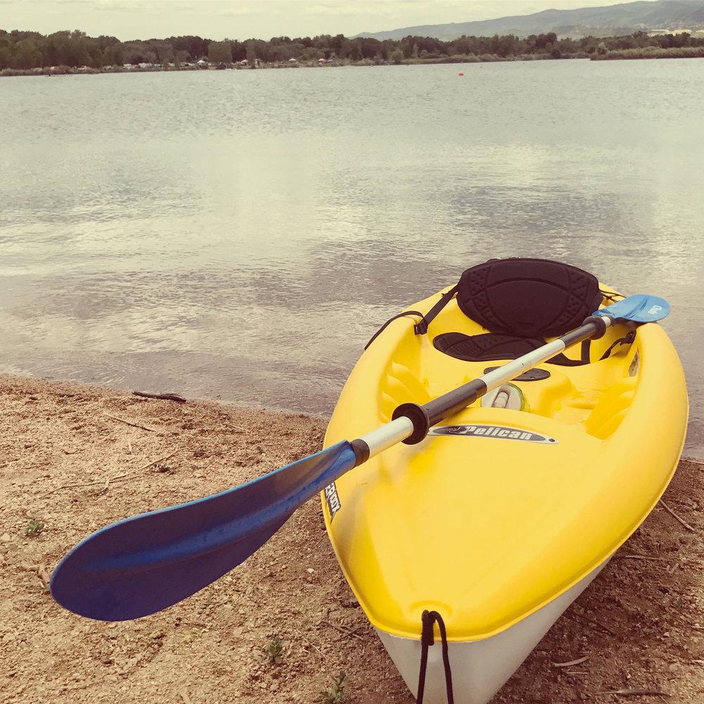 Kayak at Chatfield State Park