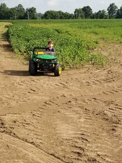 Off-roading and having fun on a hot summer day with driver, Jenkins Jones, in Tunica, Miss. Jenkins is the son of Jason and Lindsay Jones. Photo by Jason Jones