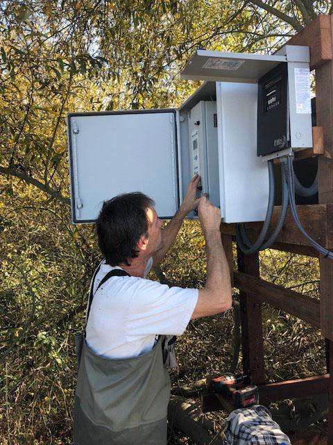 PIT tag system electrical setup